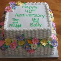 40Th Anniversary   40th Anniversary Cake for 2 couples.