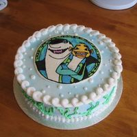 Shark Tale   This was my first frozen buttercream transfer. Alot easier than I thought it would be!
