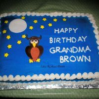 Grandma Brown's Hoot Owl   My Husband's Grandmother collects all things owl. This is the cake I came up with for her:)