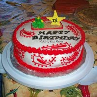 Western Birthday A sort of western style birthday cake for my cousin.