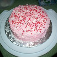 Pink Cake A pink cake for my Dad's single group.