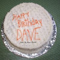 Happy Birthday Dave A Birthday Cake for my Mom's Boyfriend, Dave. All over basket weave in BC. I'm not entirely happy with the lettering. Eighty...