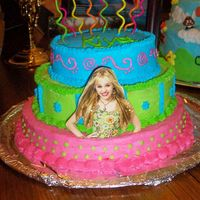 Hannah Montana Cake   I made this for my daughters 9th birthday.