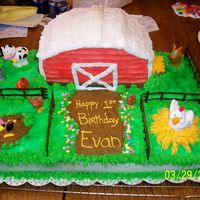 Barnyard 1St Birthday Cake I made this for my friends son for his 1st birthday. It was so much fun to make