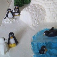 Penguins Playing for my nephew's birthday; he loves penguins