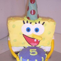Sponge Bob's Birthday  This is my second sponge bob so i had to change this one a little. I'm usually my own worst critic but i love this cake. he turned out...