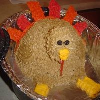 Turkey Dinner? I made this cake to take over to my in-laws for Thankcgiving. Boy were they surprised when thet lifted the top of the roasting pan and saw...