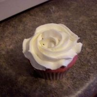 Raspberry! Raspberry Cupcake with White Chocolate Ganache filling Mock Whipped Icing