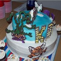 Villians On Capt Underpants Wedgie Woman and Dr. Diaper on Capt Underpants cake. Chocolate Transfers