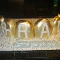 "Gold And Diamond ""grill"" my friend's brother is going to USC Dental school so she ordered this 'grill' cake for his college graduation. one of the..."