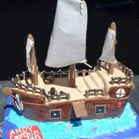 Pirate Ship fondant...fondant...and more fondant. this one was tons of fun!