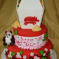 Asian -Themed First Birthday Cake this cake was a blast. the only instructions we received were to make this cake 'asian themed, and to include the 'year of the...