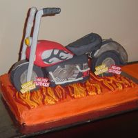 Harley Davidson Motorcycle Cake this one was a doozy...it turned out though. PHEW!