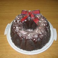 My Christmas Bundt Cake I made this cake for our christmas party at work. it's a chocolate chocolate chip bundt cake with rich chocolate glaze and top off...