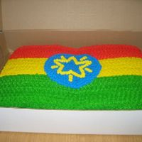 Ethiopia Flag Cake this is another cake I made for the ethiopia celebration.