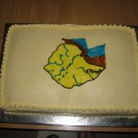 Ethiopia Map Cake I made this cake for a Ethiopia Celebration.
