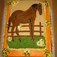 My Autumn Horse I wanted to make the cake with the season..and the birthday girl just loved her horse.