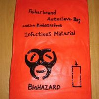 Biohazard Cake I made this cake for a co-worker in our laboratory.