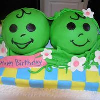 Two Peas In A Pod!   This was made for a set of twins celebrating their first birthday!