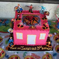 Incrediblesbirthday I had so much fun doing this for my son's 3rd birthday. It is 4 tiers so it came out really tall. This is not my original design as it...
