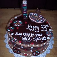 Roulette Wheel Made this for our friend, who turned 33 which is his favorite roulette number. Chocolate cake. All of the roulette wheels and board were...