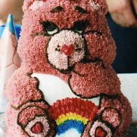 Carebear I did this cake with help for my daughters 1st b-day. That was almost 4 yrs. ago. This is the cake that got me Hooked in decorating!