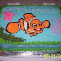 Nemo here is my Nemo cake I took the idea from Rexy! Thank you Rexy for all your help.
