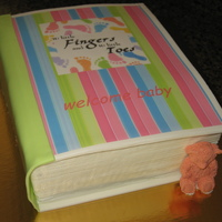 Book Baby Shower Shower theme was 10 little fingers and 10 little toes. They asked for books instead of cards for the baby. I designed the book cover in the...