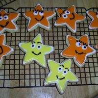 Dora Stars Sugar cookies to go with the dora cake ... this was my first attempt at sugar cookies with royal icing.