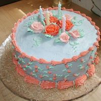 Girl's Flower Birthday Cake Plain old chocolate cake with buttercream frosting! My sister and I did this for my little girl's birthday last year. Those were my...