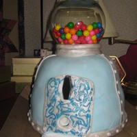 Actual Working Gumball Machine Cake This was made for work....Had a lot of trouble with this cake...fondant was dry...cake had to be put together in sections cuz inside was a...