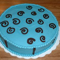 Practice Blue And Chocolate July 2007 - Practice cake for making chocolate swirls.