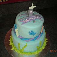Baby Shower - Aquarium Aquarium baby shower cake