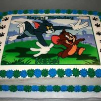 Tom & Jerry Birthday Cake   Birthday cake for a Co-workers Son. He just loves Tom & Jerry!