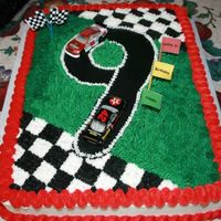 Nascar Birthday Cake   Nascar Birthday cake for a 9 year old boy.