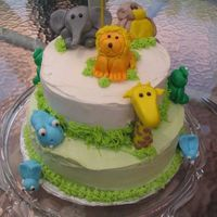 Img_1833.jpg For my son's first birthday. Egg-free chocolate cake with hand moulded MMF animals.