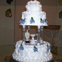 Joshua Christening Got the inspiration for this cake from a Wilton book.