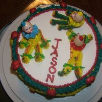 Clown Birthday Cake This is another cake I did in class. I decorated it with buttercream.