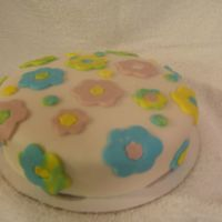 Spring Fondant Cake I did this in a class I had in using fondant.