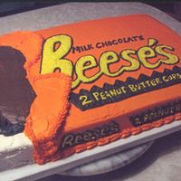 Reese's Peanut Butter Cup This was done for a cousin's groom's cake...... they found the picture on-line and then asked me to give it a try. I ended up...