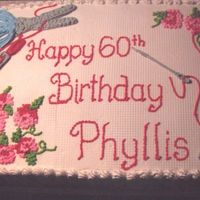 Cross Stitched Birthday This cake was fun making. I iced the cake with buttercream.. let air dry... press a clean, dry sheet of plastic canvas onto the top of the...