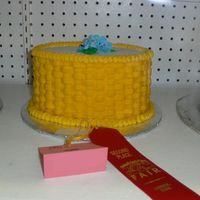 My 1St Contest Entry Small oval cake with Basketweave pattern and two blue lillies. I entered as a Mother's cake design, and was surprised to go back to...