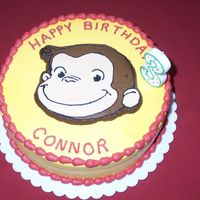 Curious George Cake This was my first frozen buttercream transfer. It was so easy....I'll never use stars again!
