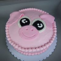 Pink Pig The theme in my son's Kindergarten class was the pink pigs, so I made this cake for the end of the year party