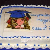 Anime Graduation Cake This is a BCT of a anime character that I added the graduation cap to.
