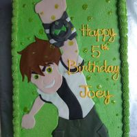 Ben 10 Cake All BC. Ben 10 is fondant.