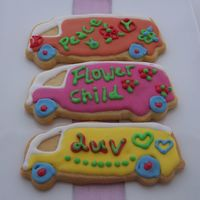 Kombi Van Cookies Someone asked me for ideas of decorating cookies for hippy theme. I came up with the kombi van cookies. Not bad ha, giving that I wasn&#039...