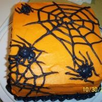 Spider Cake This was my attempt at a spiderweb cake for the office (Halloween 2005).