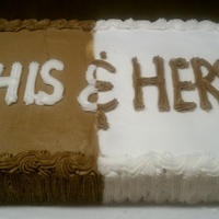 His & Her Cake
