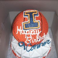 Basketball Birthday This is my first paid cake making job, all Buttercream icing. Any thoughts would be appreciated!